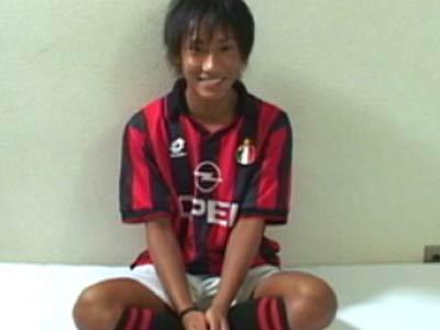 色黒のサッカー男子のオナニー